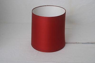 alter Lampenschirm für Stehlampe oder Tischlampe 60er 70er Jahre rot bezogen
