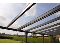 Large Glass Panels 8x775x3000mm . Can be used for internal or external project