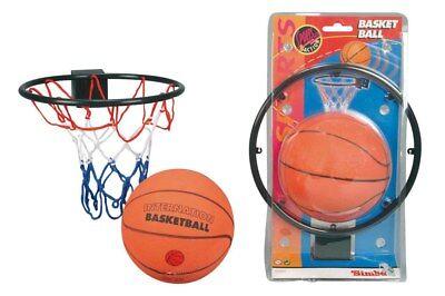 Simba Basketball Set Ball mit Korb und Netz für Zimmer Tür Spiel Kinder Spiel Tür Basketball Netz