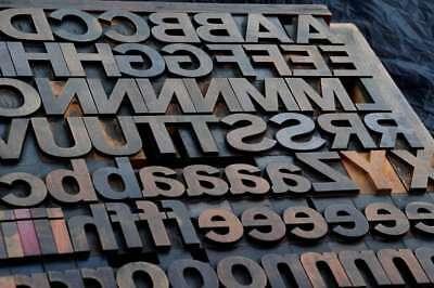 Letterpress Wood Printing Blocks 123pcs 2.13 Tall Wooden Type Woodtype Alphabet