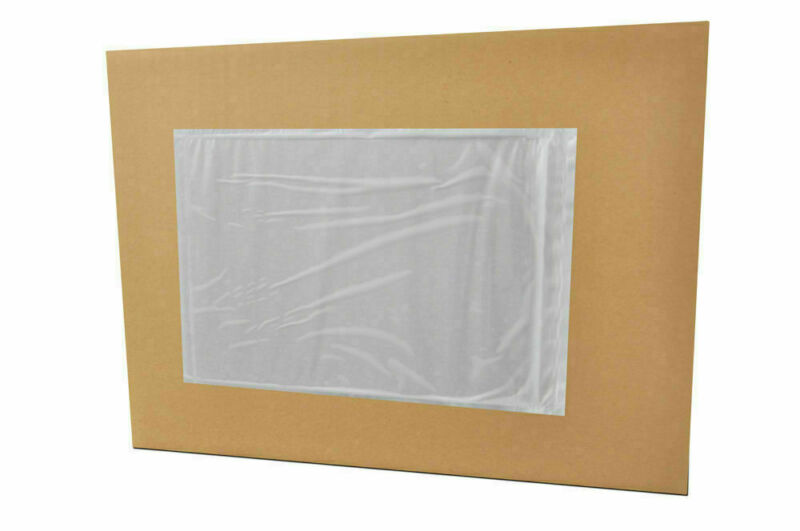 "1000 Clear Packing List Envelope Plain Face 7"" x 10"" Backside Load Stickers"