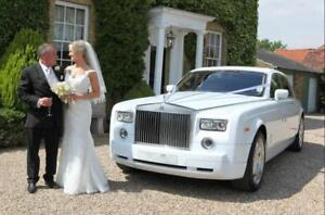 ROLLS ROYCE PHANTOM WEDDING LIMO CAR CHAUFFEUR RENTAL SERVICE - RARE & UNIQUE - ONE OF A KIND VEHICLE - ARRIVE IN STYLE