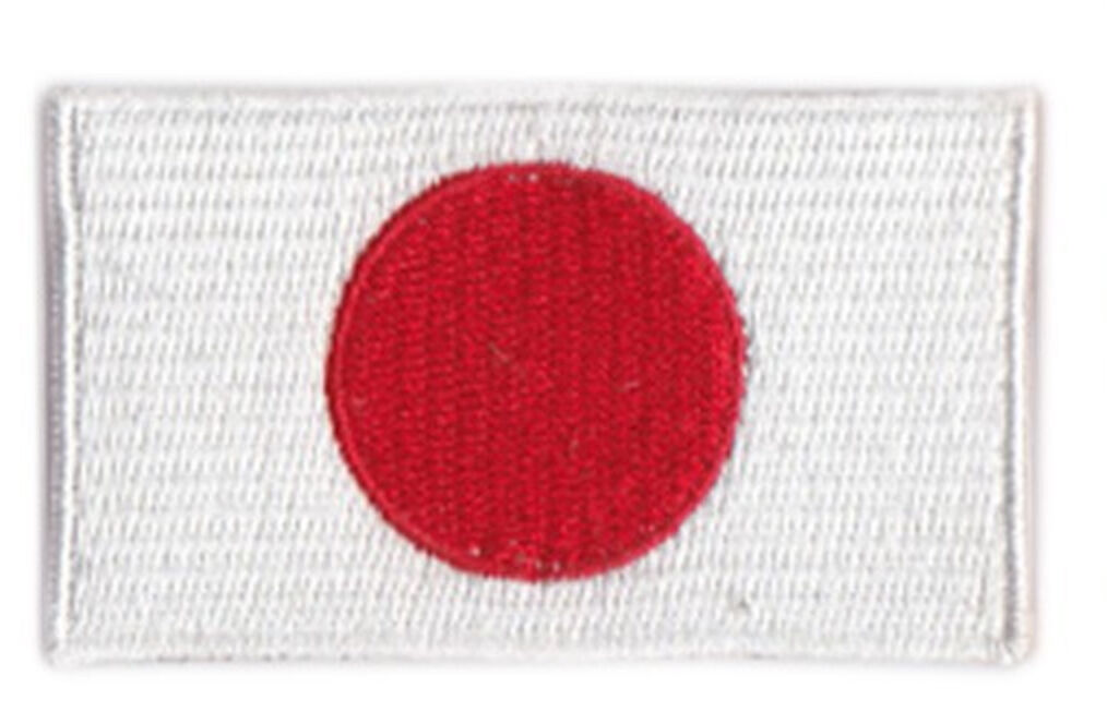 Small Japan Flag Iron On Patch 2.5 x 1.5 inch Free Shipping