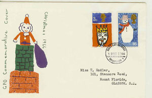 GB FDC 1966 XMAS. PHOSPHOR AND NON PHOSPHOR.. VARIOUS COVERS