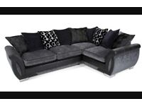 Left Hand Corner Sofa & Footstool