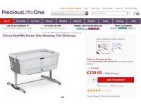 Chicco Next2Me Dream - delicacy. Brand new unused includes mattress.