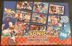 Sonic the hedgehog 9 in 1 jigsaw puzzle