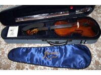 Forenza Prima 2 - 4/4 Full Size Violin Complete Cased Kit + Wolf Shoulder Rest, Virtually Brand New