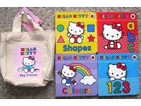 Hello Kitty bag, books, cycling helmet and onsie. £1 - £4 each