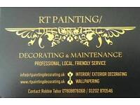 RT Painter and Decorator 25% off to new clients in January
