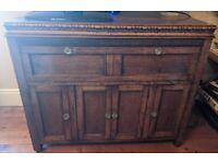 Oak cupboard - great as a TV stand