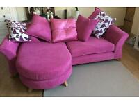 Gloss 4 seater pillow lounger sofa
