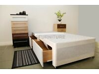 DOUBLE DIVAN BED BASE WITH 2 DRAWERS £105 ONLY FREE DELIVERY