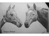 Hand drawn portraits from photographs,great for birthday /wedding gift!
