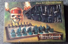 Pirates of the Caribbean Chess Set, Dead Man's Chest, Collectors Game, Disney