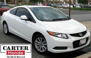 2012 Honda Civic EX + SUNROOF + LOW KMS! + CERTIFIED!