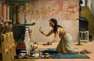 """The ancient Egyptian canvas 20""""x30"""""""