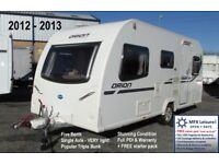 2012 BAILEY ORION 450/5 - LIGHTWEIGHT 5 BERTH - TRIPLE BUNK - STARTER PACK - WARRANTY