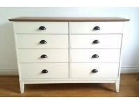 Wiltshire 8 Drawer Chest Two Tone