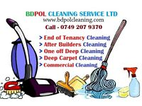 Professional End of Tenancy Cleaning - After Builders Cleaning - Deep Carpet Cleaning
