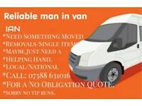 Reliable man in van