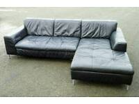 leather corner sofa - free delivery!
