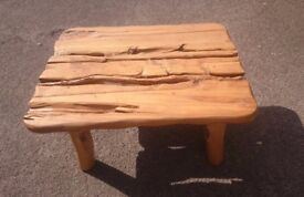 Real wooden unusual table