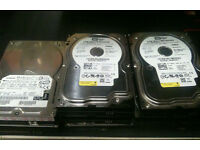 Assorted Hardrives - 160gb+120gb