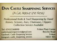 Professional sharpening services (Scissors, knives, chainsaws etc...)