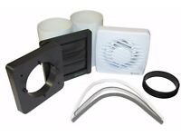 "Bargain price- Bathroom Extractor Fan- Xpelair 4"" (100mm) Timer Delay- whole kit"