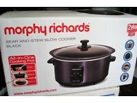 New Morphy Richards Accents Sear and Stew Slow Cooker - Black