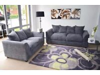 Grey 3 and 2 Sofa Set