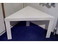 Ikea Lack Corner Table In White.