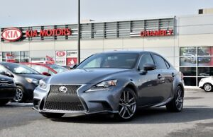 2014 Lexus IS IS 250 F SPORT **AWD** *CUIR ROUGE** *PNEUS HIVER*