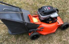 Petrol mower Briggs & Stratton reliable engine easy start Flymo lawnmower