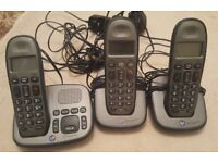 BT Freelance Trio Cordless Phones with Answering Machine - 3 Handsets