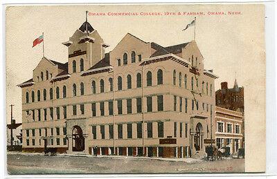 Omaha Commercial College Nebraska 1907c postcard