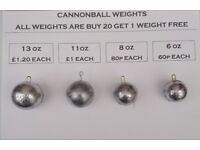 Fishing Weights for kayak, boat, pier or shore (Sinkers)
