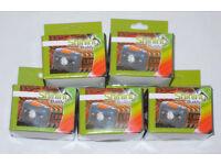 5 x SHINING BUDDY LATEST HALO FACED LED HEAD LAMP RED & WHITE LIGHT BLACK ORANGE