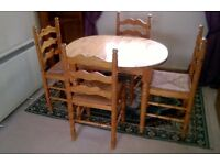 Dining Room Table and 4 Chairs.