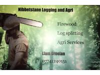 Log splitting firewood and Agri services