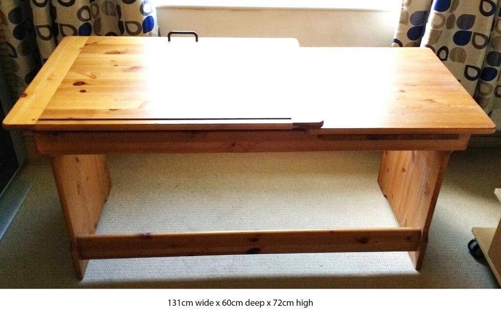Cool Pine Art Desk With Adjustable Tilt Mechanism In Earby Lancashire Gumtree Download Free Architecture Designs Embacsunscenecom
