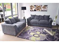 Grey 3 and 2 Sofa Set