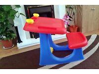 Childrens Activity Art Storage Desk Kids Sturdy Table & Chair