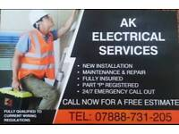 Electricians fully qualified and Registered