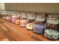 Empty Douwe Egberts Jars