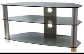 "Smoked glass TV Corner Unit suitable for up to 50"" flat screen TV. Gòod condition but broken down."