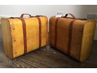 2 wooden suitcases/boxes NEW