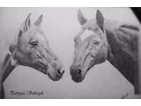 Beautiful pencil portraits from photos - a piece of art in your home :)