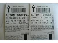 Saturday alton towers tickets